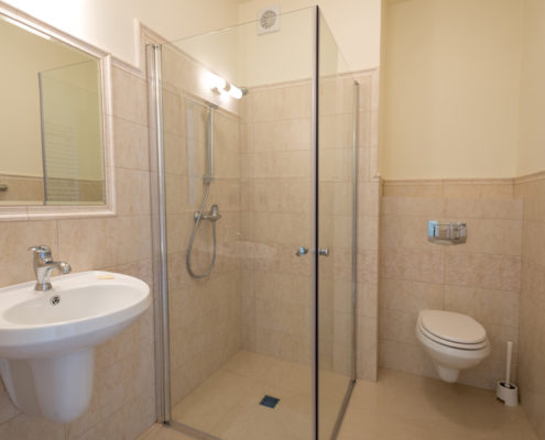 Łazienka w pokoju - Hotel SPA Akacjowy Dwor